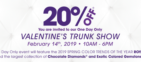 Join Us For Our Le Vian Valentine's Trunk Show