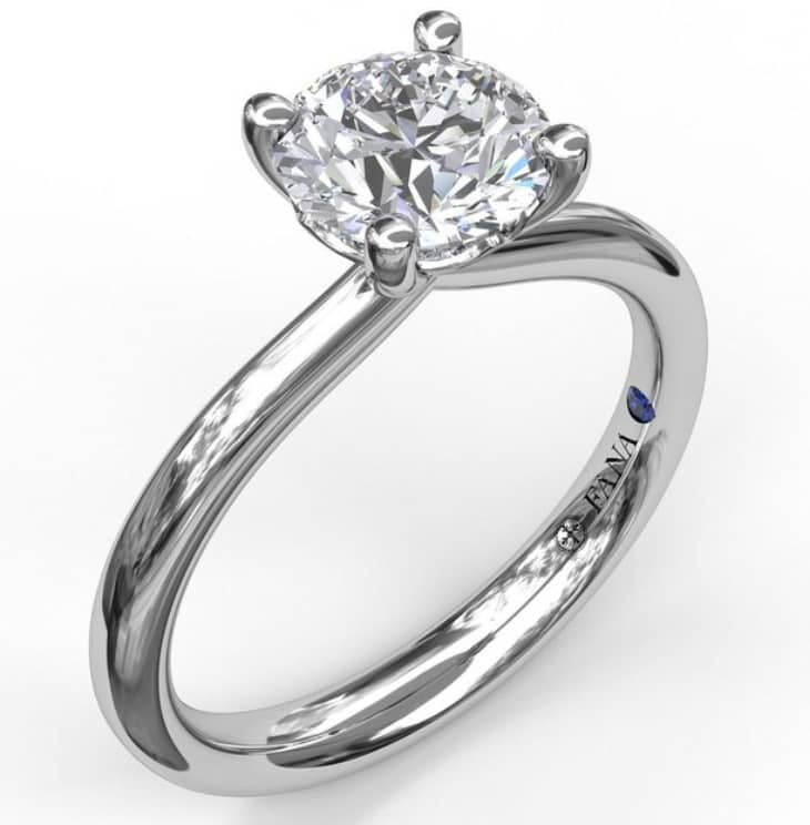 Timeless Round Cut Solitaire Engagement Ring