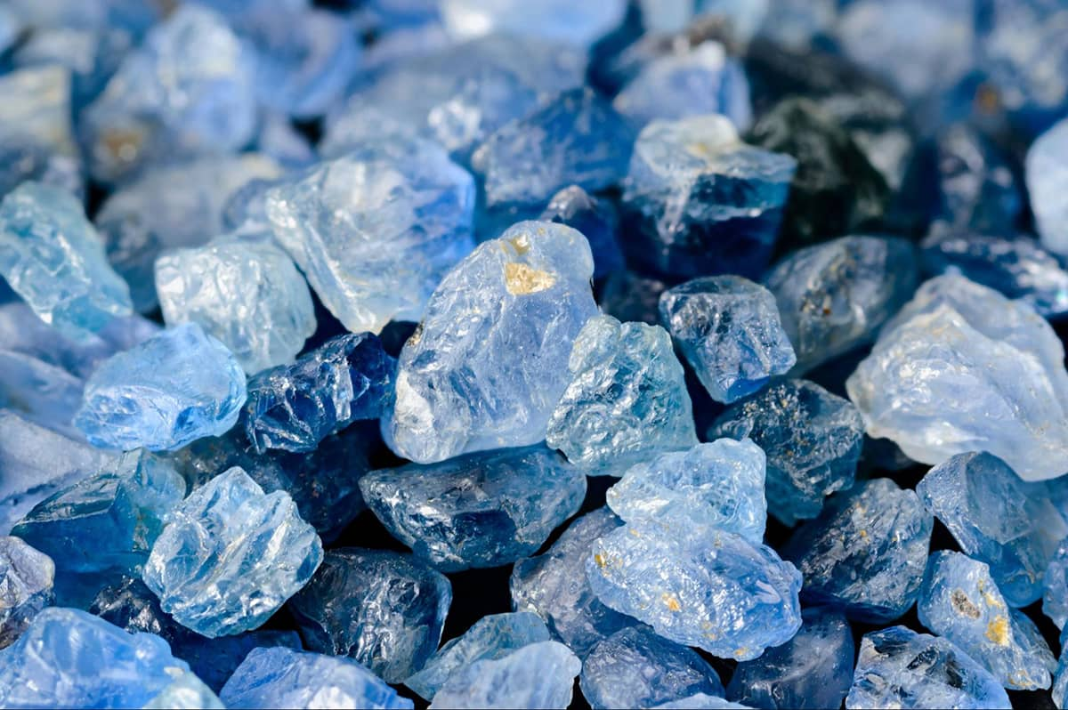 Pile of sapphires